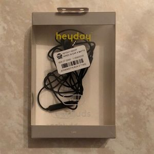 heyday Wired In-Ear Headphones - Black